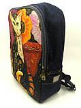 Джинсовый рюкзак Сказочный кот 6, фото 3