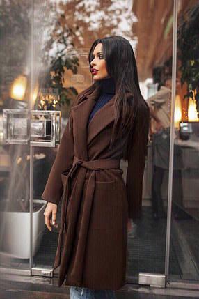 Пальто коричневое женское, фото 2