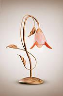 Настольная лампа металлическая, флористика