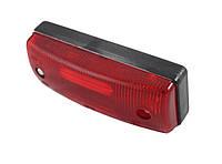 Габаритный фонарь для грузовика красный (96х36мм)