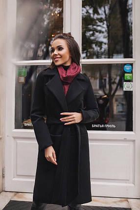 Пальто черное женское классическое, фото 2
