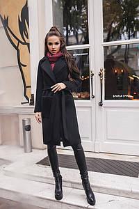 Пальто черное женское классическое