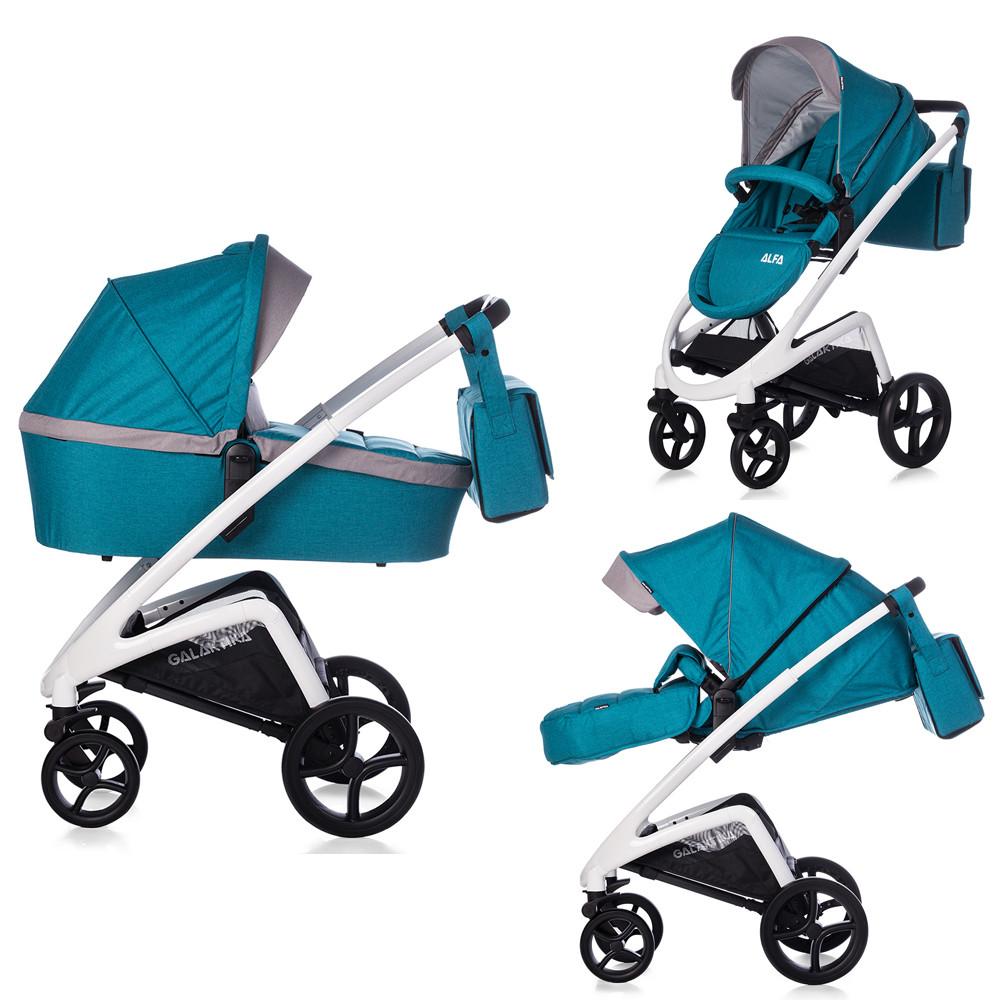 Детская прогулочная коляска GALAKTIKA Alfa M31 Starry Blue  ш.к./1/ MOQ. Гарантия качества. Быстрая доставка.