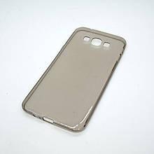Чехол TPU Samsung Galaxy A800 A8 transparent grey