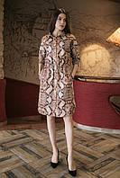 Замшевое платье VIVIAN рубашечного кроя в змеиный принт