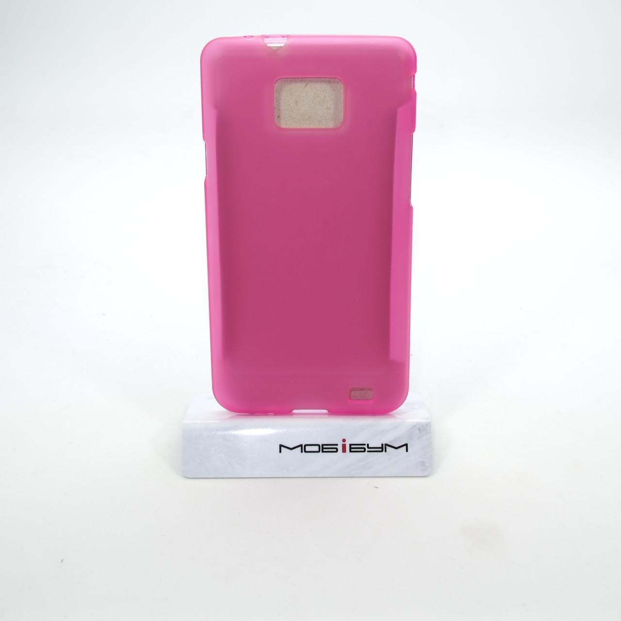Чехол TPU Samsung i9100 pink