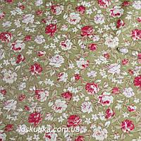 37008 Розовый шик. Ткань в стиле шебби-шик. Декоративная ткань для изделий хендмэйд и дизайна летнего платья.