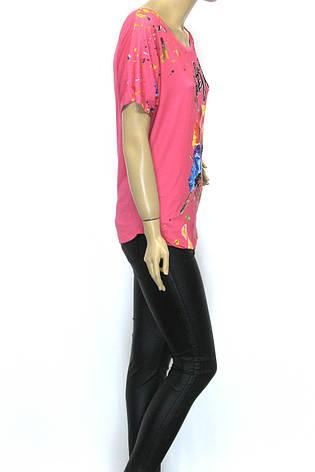Жіноча футболка  з квітами, фото 2