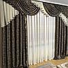 Комплект готовых штор с ламбрекеном №371, фото 3