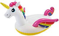 """Детский надувной бассейн Intex 57441 """"Волшебный единорог"""" с разбрызгивателем, фото 1"""