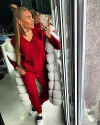 """Вязаный женский костюм TM Doratti """"ALINA"""" красный"""