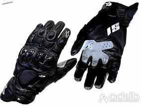 Длинные демисезонные Кожа зам мото перчатки Alpinestars S1