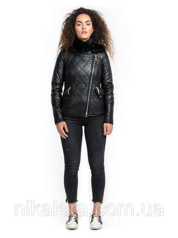 Куртка из эко-кожи косуха  рр 44-52