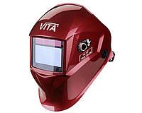 Сварочная маска VITA TIG 3-A TrueColor (цвет металлические соты красные)