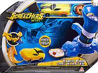 Набор Пускатель дисков Скричерс / Screechers Wild Rapid Fire Disc Blaster Flipping Morphing Toy Car Vehicle, фото 1