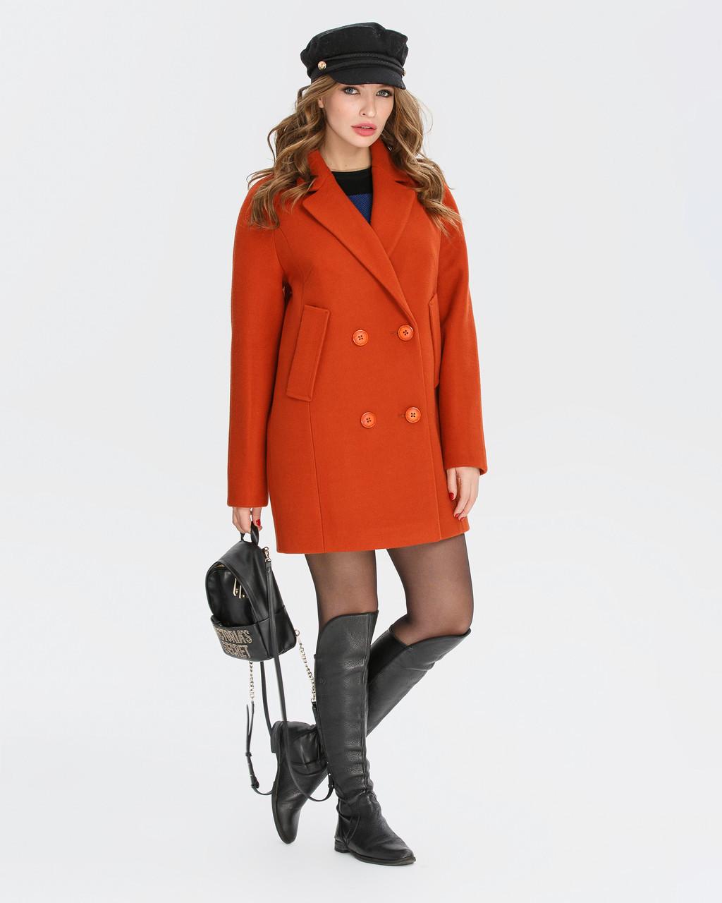 Двубортное пальто от 38 размера