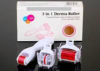 Роликовый массажер для лица 3in1 Derma Roller (Мезороллер), фото 1