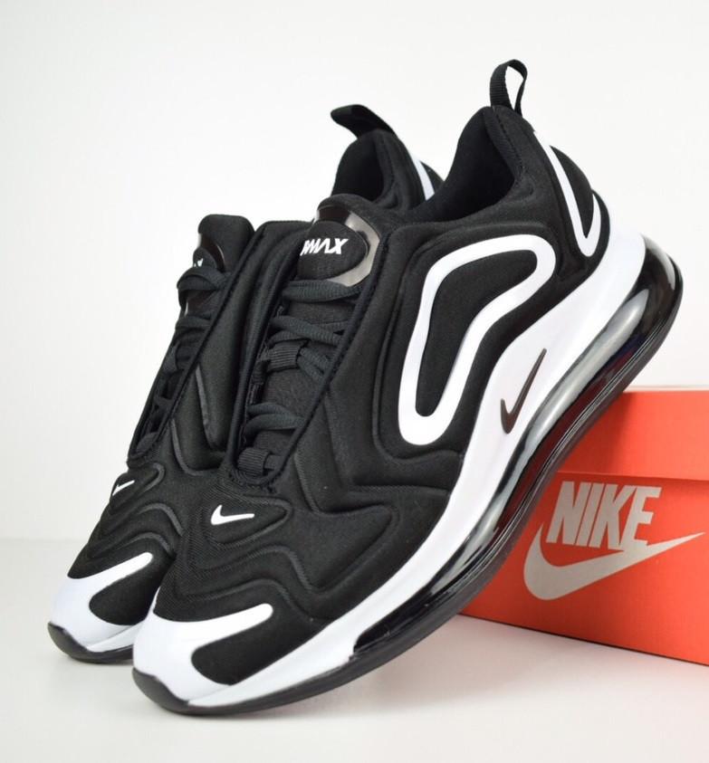 fa570a50 Мужские кроссовки Nike Air Max 720 black white. Живое фото. Топ реплика -  Интернет