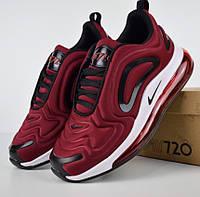 Женские кроссовки в стиле Nike Air Max 720 бордовые. Живое фото