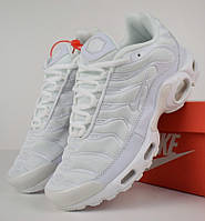 Женские кроссовки в стиле Nike AIr Max Tn+ plus белые. Живое фото