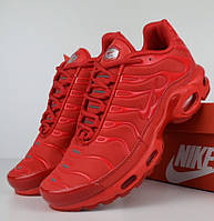 Женские кроссовки в стиле Nike AIr Max Tn+ plus красные. Живое фото