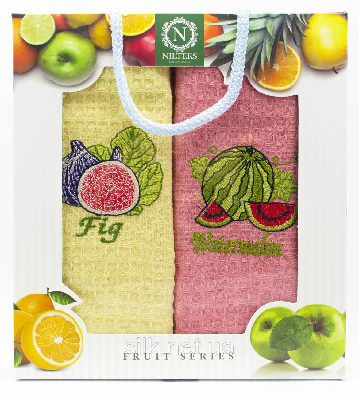 """Набір вафельних рушників для кухні """"Fruit"""", 2 шт., 40х60 см (Туреччина)"""