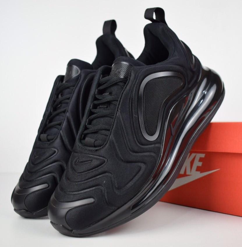 Мужские кроссовки Nike Air Max 720 triple black. Живое фото. Топ реплика -  Интернет 9055f50871155