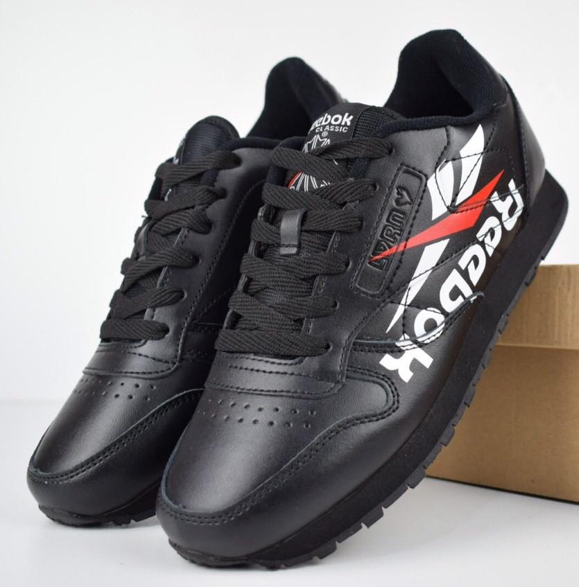 9b2e32f3 Мужские кроссовки Reebok Classic черные. Живое фото. Реплика - Интернет  супермаркет - SoulMarket в