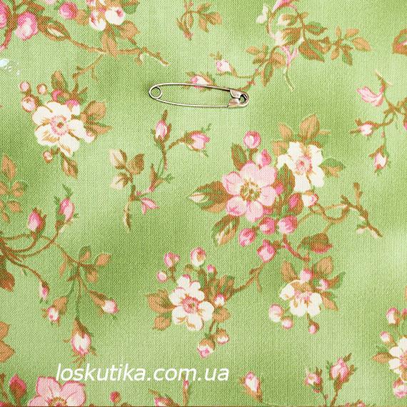 38016 Утомленный цвет (зеленый). Ткани в стиле шебби. Подойдет для декора, для поделок и шитья летнего платья.