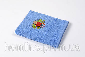 Рушник кухонне махровий Lotus Sun Apple блакитний 40*70