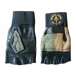 Перчатки для фитнеса ARMY с напульником черные