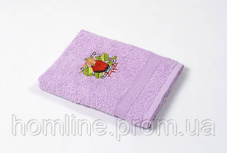 Рушник кухонне махровий Lotus Sun Apple ліловий 40*70