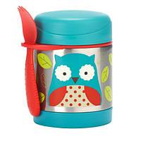 Skip Hop Детский термос кружка для еды Сова Zoo insulated food Jar Owl
