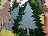 Вирубка з картону. Набір ялинок, 20 штук, 50х89 мм, фото 2