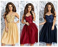 """Женское нарядное платье с кружевным корсетом   ( жіноче плаття ) """"Сена"""" , фото 1"""