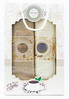 """Набір вафельних рушників для кухні """"Drink Coffee"""", 2 шт., 40х60 см (Туреччина)"""