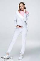 Спортивный костюм для беременных и кормящих SKYE, серый меланж, фото 1