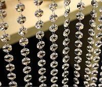 Акриловые кристаллы на кольцах для свадебного декора
