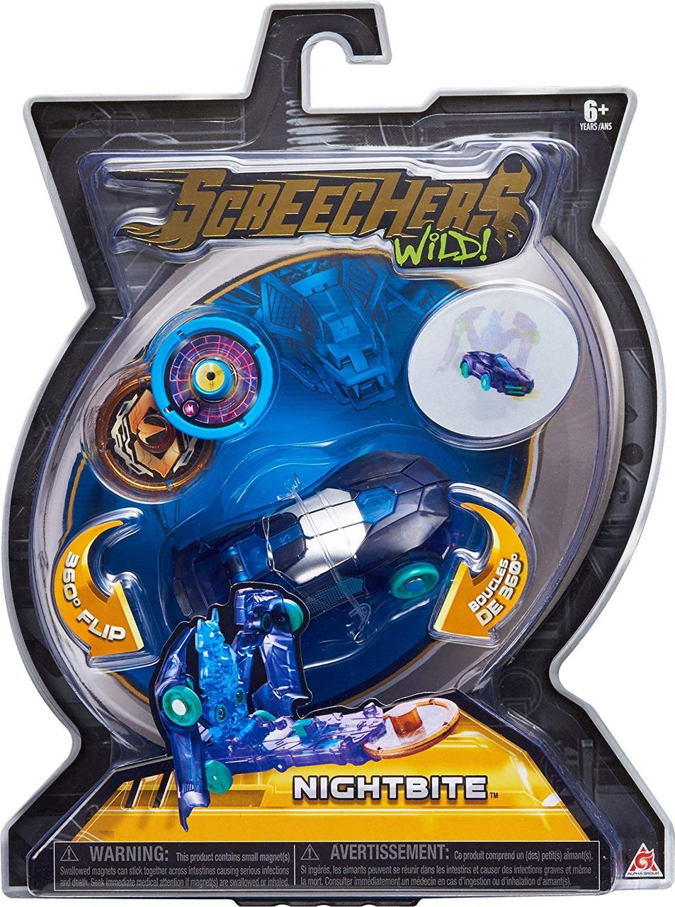 Машинка-трансформер Скричерс - Найтбайт - Уровень 1 / Screechers Wild - Nitebite - Level 1