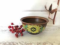 Полупорционная глиняная тарелка 400мл, фото 1