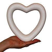 Сердце пенопластовое высота 19 см, фото 1