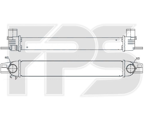 Интеркулер Fiat Fiorino, Citroen Nemo (FPS)