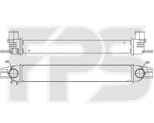 Интеркулер Fiat Fiorino, Citroen Nemo (FPS) , фото 2
