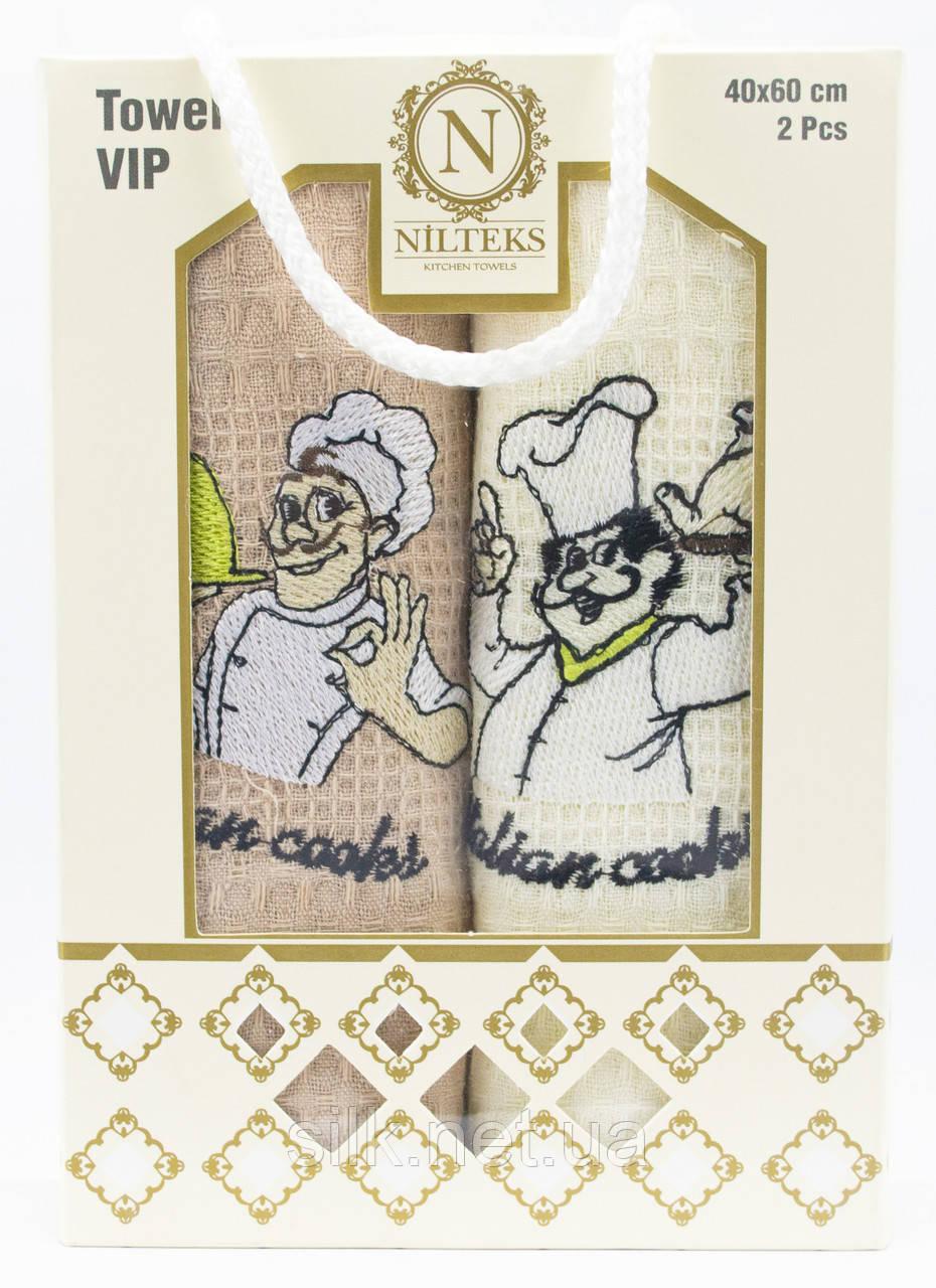 """Набір вафельних рушників для кухні """"Cook"""", 2 шт., 40х60 см (Туреччина)"""