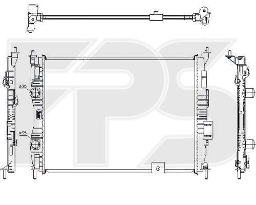 Радиатор охлаждения двигателя Nissan Qashqai (FPS)