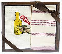 Набір вафельних рушників для кухні, 2 шт., 45х70 см (Туреччина)