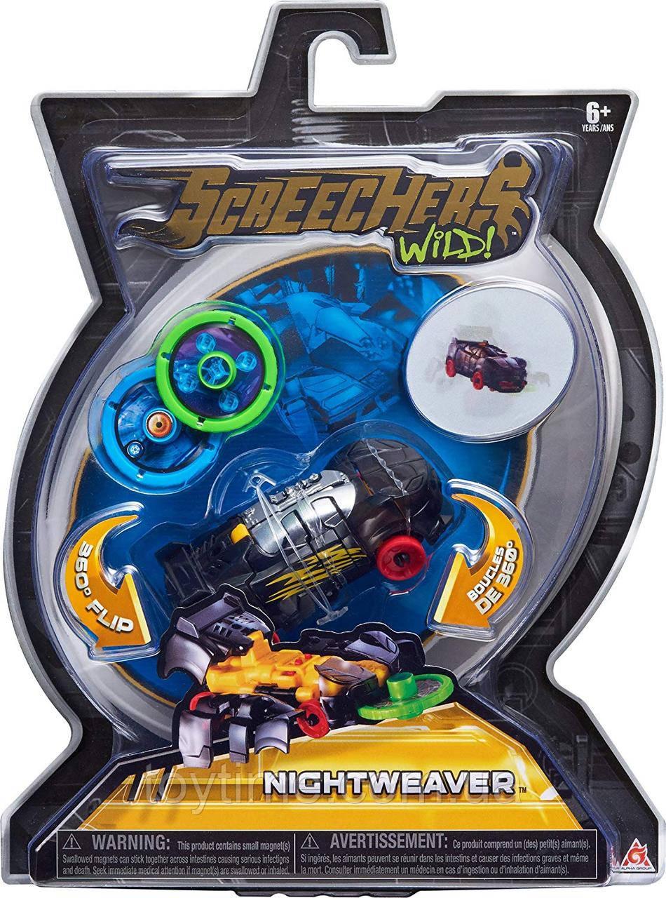 Машинка-трансформер Скричерс - Найт Вивер - Уровень 1 / Screechers Wild - Night Weaver - Level 1