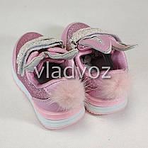 Детские кроссовки для девочки розовые ушки 24р., фото 3