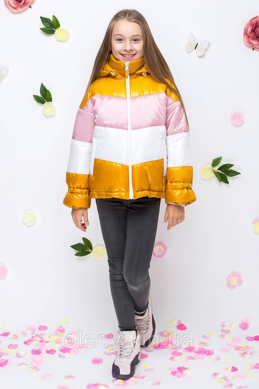 Весенняя модная куртка для девочки подростка ТМ Барбаррис Размеры 134-164