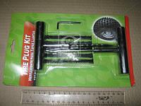 Набор для ремонта бескамерных шин (жгут 5шт, шило, рашпиль, ключ) <ДК> TRK-011